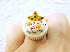 Kawaii Ring Miniature Food Jewelry  Vanilla Cup Vanilla Ice Cream Cookie. $12.50, via Etsy. http://www.etsy.com/shop/SouZouCreations