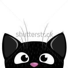 peeking cat silhouette - Google Search