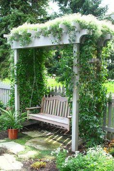 Fascinating DIY Backyard Pergola Ideas for a Cozy Home Small Pergola, Small Backyard Design, Pergola Swing, Wooden Pergola, Backyard Pergola, Porch Swing, Pergola Ideas, Backyard Pools, Cheap Pergola