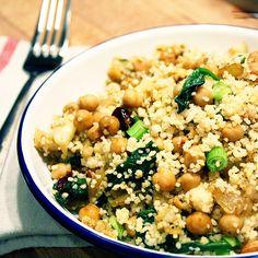 Recipe: Chickpeas, Spinach & Cauliflower Couscous