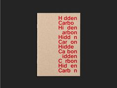 cover of Hidden Carbon book (designed for the EPFL/ECAL Lab) by Gavillet &…
