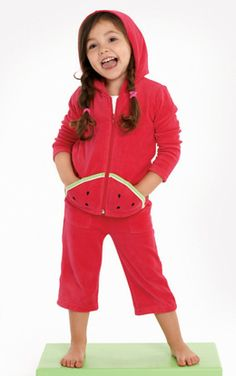 Girls Clothes | Le Top | velour watermelon hoodie, love this watermelon tracksuit