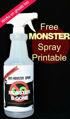 Get rid of those pesky monsters tonight! (and ghosts too!) I did this 30 years ago, when my boys were little! I used flowery air freshener, and told them monsters hated sweet smells. Worked like a champ! Monster Spray, Princess Pinky Girl, Craft Activities, Toddler Activities, Business For Kids, Raising Kids, Halloween, Getting Old, Kids Learning