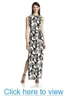 Donna Morgan Women's Sleeveless Maxi Dress with Side Slit #Donna #Morgan #Womens #Sleeveless #Maxi #Dress #Side #Slit