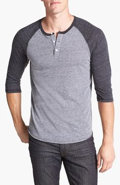 These throw back baseball tee's are always cool Called: Alternative Trim Fit Heathered Raglan Henley | Nordstrom