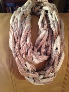 Arm knit sashay scarf
