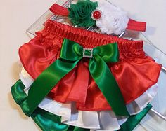 Matching Christmas Set Red w White Polka by PrincessEllasBoutiqu