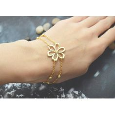 Sweet Double Layered Flower Bracelet