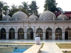 The century Star Mosque on Abul Khairat Road, Dhaka, Bangladesh, is notable for its colored tiles. Gypsum Decoration, Gypsum Wall, Dhaka Bangladesh, Islamic Architecture, Ceiling Rose, Our Country, Color Tile, Mosque, 18th Century