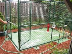 Another outdoor dog kennel...