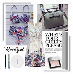 """""""Rosegal 40/IV"""" by mery66 ❤ liked on Polyvore featuring Burberry, Gucci, Estée Lauder and rosegal"""