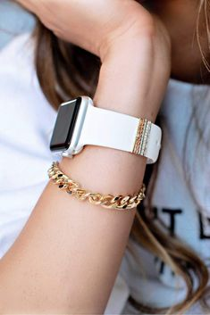 Apple Watch Bands Fashion, Apple Watch Leather Strap, Apple Watch Accessories, Blue Denim, Arm Party, Fancy, Watches, Style, Swag