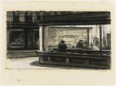 Nighthawks, Hopper Drawing