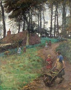 British Paintings: Stanhope Alexander Forbes - A Country Lane