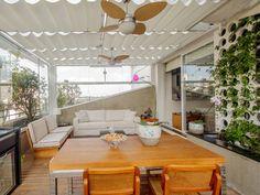 Persiana de teto | revestimento interno cimento | deck madeira