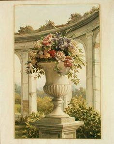 Mural Art, Wall Murals, Wall Art, Greek Goddess Art, Chinoiserie, Wall Painting Decor, Grisaille, Flower Art, Art Drawings