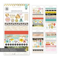 Capture your everyday moments with our new Memorandum Collection. These products feature bold typography, bold colors, a… Bold Typography, Paper Craft Supplies, Simon Says Stamp, Scrapbook Stickers, Washi Tape, Bold Colors, Ephemera, Paper Art, Adhesive
