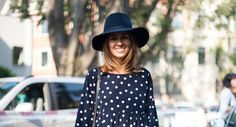 Polkadot it up! Check out this cute spring outfit! | Streetstyle | Outfit inspiration | Polkadot dress |