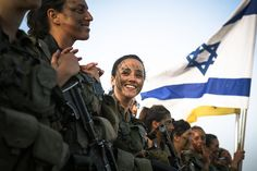 G-D bless IDF: Female combat soldiers of Combat Intelligence receive their berets after a long march in southern Israel.  | Photo by Gadi Yampel, IDF Spokesperson's Unit