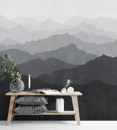 Our picture-perfect Mountain Mural Wall Art creates the illusion of depth and spaciousness in a small room, and adds to the grandeur of larger spaces. Ideal for cozy and modern nurseries, bedrooms, and living rooms. The overall pattern repeats every 5 sheets. Each sheet is sold