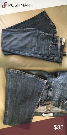 "Abercrombie & Fitch Stretch Low-Rise Jeans Having trouble deciding if these are flares or boot cuts, but I've included measurements. Gently preloved, no damage. Stretch jeans, size 8 Long. Inseam 33""/waist 33""/leg opening 19 inch/front rise 8.5"". Make me an offer! 🎁Choose a free gift with every purchase (see the gift entry in my closet for details).🎁 Bundle with other items in my closet to save 10% and save on shipping! Abercrombie & Fitch Jeans"
