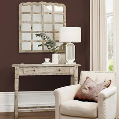 Clayton Mirror, Cream | ACHICA