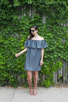 TUTORIAL: HOW TO MAKE A RUFFLE OFF THE SHOULDER DRESS