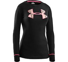 Great layering piece for the outdoors // Under Armour Womens Waffle Tackle Twill Crew Top | Scheels