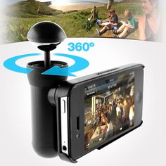 Get the whole picture with this revolutionary 360º panoramic lens attachment for your iPhone, shooting still photos and video.