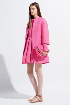 Valentino - Pink coat and dress.