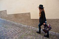walking around the city with a Sadami bags