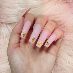 Acrylic Nails Coffin Pink, Colored Acrylic Nails, Square Acrylic Nails, Summer Acrylic Nails, Coffin Nails, Drip Nails, Dipped Nails, Cute Pink Nails, Pastel Pink Nails