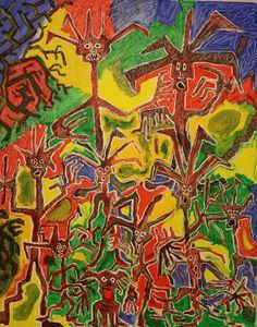 Tree People / Maarit Korhonen, acrylic, canvas, 92cm x 73cm Dark Paintings, Fantasy Paintings, Original Paintings, Dancer In The Dark, Tree People, Autumn Painting, Original Art For Sale, Online Painting, Artists Like