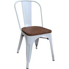 Καρέκλα RELIX WOOD μεταλλική σε λευκό χρώμα E5191W