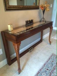 Piano into an entry table