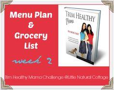 Trim Healthy Mama Menu Plan & Grocery Shopping List | Week 2 (littlenaturalcottage.com)
