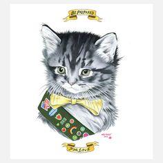 Berkley Illustration - Kitten Scout Limited Ed Print