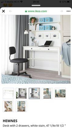 Furniture, White Stain, Home Office Desks, Home, Floating Corner Desk, Ikea Hemnes Desk, Ikea, Sofa Tables, Desk
