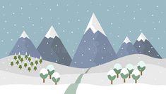 Mountain Illustration, Winter Mountain, Print Wallpaper, Bullet Journal Inspiration, Mountain Landscape, Sketches, Clouds, Graphic Design, Cartoon