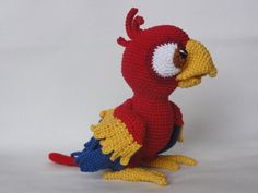 Mesmerizing Crochet an Amigurumi Rabbit Ideas. Lovely Crochet an Amigurumi Rabbit Ideas. Crochet Parrot, Crochet Birds, Crochet Motifs, Crochet Patterns Amigurumi, Cute Crochet, Crochet Animals, Crochet Crafts, Crochet Projects, Crochet Baby