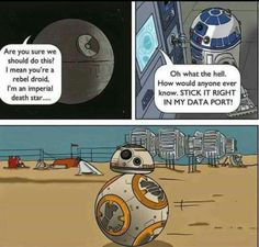 Bb-8, death star, r2d2 funny humor star wars episode VII the force awakens