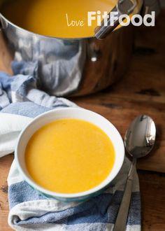 soep van flespompoen met prei en appel