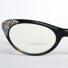 rhinestone studded cat eye glasses frames by liberty