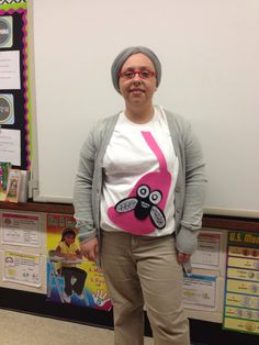 Teacher Costume: the old Lady who swallowed a fly