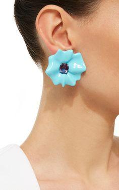 Flower Collection Oval Cut Amethyst Earrings in | Moda Operandi