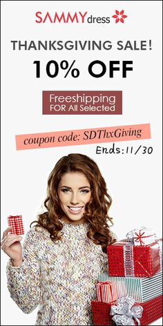 Ready to #Thanksgiving2015?  Shop Now and Save up to 60% on ThanksGiving    #Couponscop #Sammydress #Thanksgiving2015 #SammydressCoupon #SammydressThanksGivingSale #SammydressThanksGivingDeals #SammydressDiscountCode