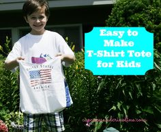 T-shirt Tote Bags are a great way to recycle and repurpose an old t-shirt ~ the cost is next to nothing and the uses are endless.