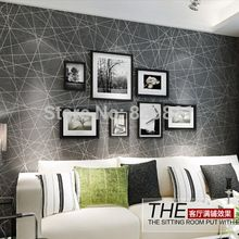 Abstract Wallpaper 3D Modern for Living Bedroom Home Decor Flock Wall Paper Geometric Papeis De Parede Roll Whitepapel de parede(China (Mainland))