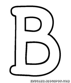 Molde da letra maiúscula B