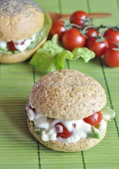 Tasty vegetarian sandwich - vegetables and no meat. Must try!